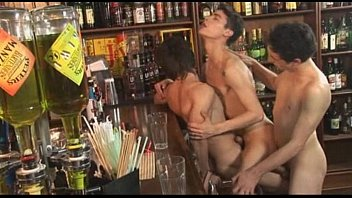 Gay bars in snj Horny gay threesome at the bar