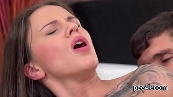 Glamorous hottie gets her spread twat absolute of warm piss and squirts