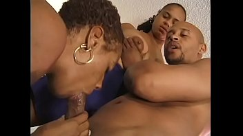 Two pretty black whores are getting their pussies fucked hard by friend