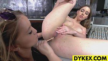 Dildo fucking lesbian girls