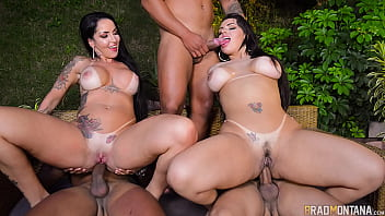 The beauties Angel Lima and Elisa Sanches together for the 1st time in an orgy with three pirocudos and ass at will - With Jack Kalahari, Felipe Costa, Jhonnye