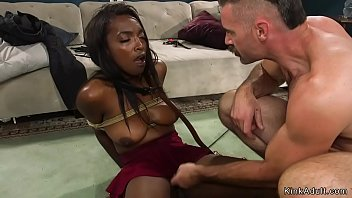 Home intruder bondage - Husband ties and torments ebony wife