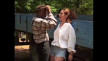 Black Worker Hitting On The Daughter's Farmer