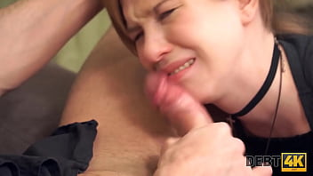 DEBT4k Man Comes To The Teen Russian Debtor And Drills Shaved Pussy Soon 10 Min