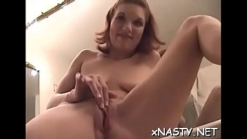 She can barely take his huge pecker up her narrow wet crack