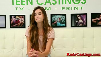 Redhead teen fucked at brutal casting porn image