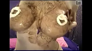 Big Tit Webcam Slut Gets Wet and Messy With Chocolate and Whipped Cream
