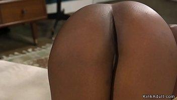 Interracial couple have bdsm sex