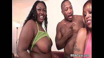 Two Fat Ebony Sluts Enjoy To Share One