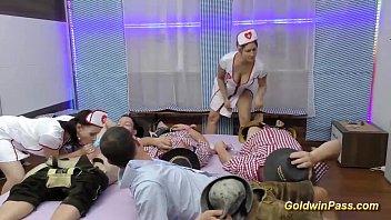 German lesbian nurses asslicking Nurses in lederhosen gangbang orgy
