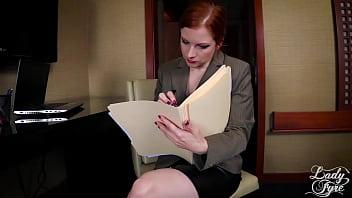 ACCOUNTANT GONE WILD -FULL VERSION LADY FYRE MILF REDHEAD POV 15 min