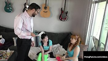 Penny Pax & Charlotte Sartre Scolded & Fucked By Step Dad!