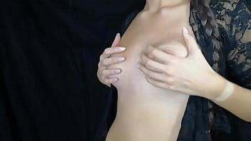 virgin brings herself to real nipple orgasm