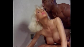 Beautiful Blonde ANAL Queen takes Big Black Cock DP's, Helen Duval