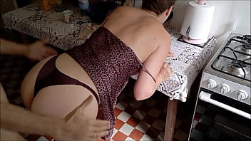T&A 686  I love getting my wet pussy fucked on Saturday morning in satin panties and leopard nightie