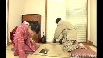 Lovely Geisha Yayoi Yanagida serves up more than tea when she sucks her gentlema