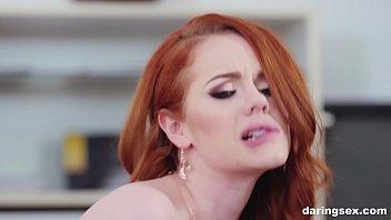 Pale skin redhead fucks like deluxe escort on the market porno izle