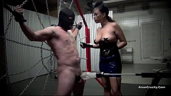 Latin male fetish - Restrained and drained the milking of a male slave starring goddess gia