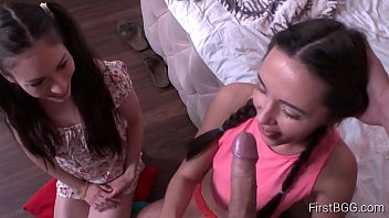 Pigtailed teen - Firstbgg.com - arwen gold carry cherry - action pov 3some