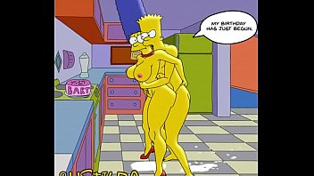 The simpsons marge is a lesbian - Bart simpson fucks his mom marge