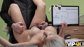 Vip4k.Tanned Beauty Passes Dirty Porn Casting In The Loan Office