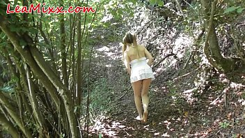 Horny girl caught in forest and 13 min