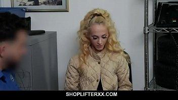 Skinny blonde teen pleasures mall cop for freedom - Sadie Hartz