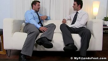 Gay officers action league - Muscular office stud gets his sexy toes properly sucked