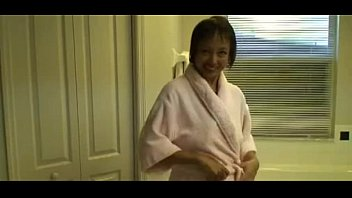 New granny porn tubes - Horny asian granny fucks her cunt in the hot tube