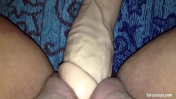 chubby babe stuffing her fat pussy full of a big dildo - fat-pussys.com