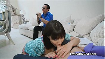 Bigtit cheats in front of blind hubby