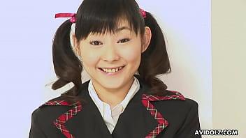 Japanese teen, Anri Kawai got gently shaved, uncensored