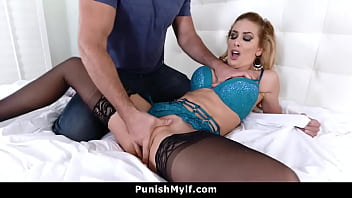 Cheating Stepmom Tied and Punished By Her Step Son | Cherie Deville