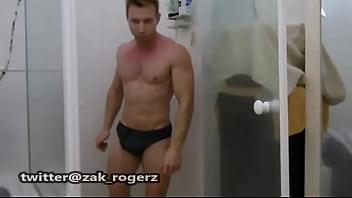Gay geelong beat footy - Footy shorts aussie dude strips to nylon speedo in shower - onlyfans.comzakrogerz