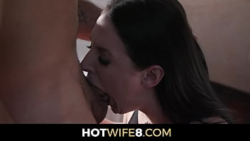 Hot Wife Angela White Gets Fucked Hard With Her Big Natural Tits Bouncing