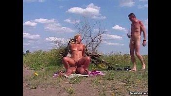 Grandmother cumshot Granny outdoor anal