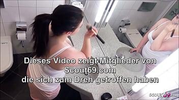 German BBW Step Sister Seduce to Fuck in Bathroom by Bro 8 min