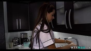 Gorgeous maid in my kitchen 5 min