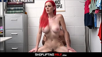 Skinny Big Tits MILF Red Hair Lilian Stone Caught Shoplifting Fucked By Guard After Deal Is Reached