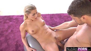 NubilesPorn - Tight Blondes Cock Sucking Workout