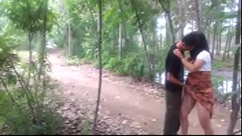 Chinese maid got hard fuck in the forest