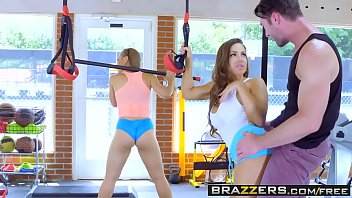 Brazzers - Big Tits In Sports - Abigail Mac Nicole Aniston and Charles Dera -  Gym And Juice image