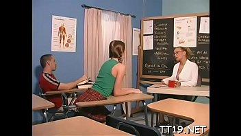 Cunning teacher gets teen love tunnel