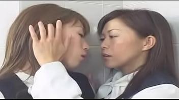 Lesbian Deep Kiss Contest 1 -- Scene 04 -- Yukari Sakurada & Reiko Mizuno, Stewardesses