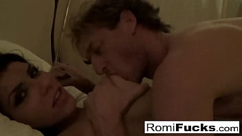 Home movie sex in a hotel with sexy Romi Rain