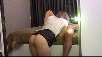 Sex at a student party with a hot beauty. Real sex