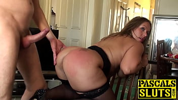 Classy submissive bitch spanked during rough sex