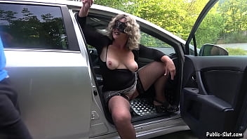 Jessica fucked and creampied by 8 strangers at a rest area thumbnail