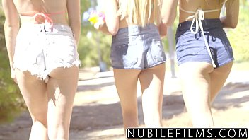 Bikini olsen twins - Nubilefilms - playful coeds have intense lesbian threesome