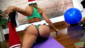 Amazing Yoga Stretching from this PERFECT ASS Santa Slut!